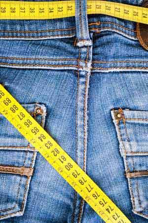 Jeansgröße messen