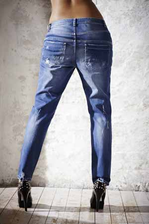Tapered Damenjeans